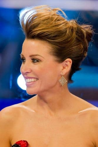 hair up styles with quiff up do hair styles pictures from the runway carpet 4549 | dannii minogue s quiff up do 1