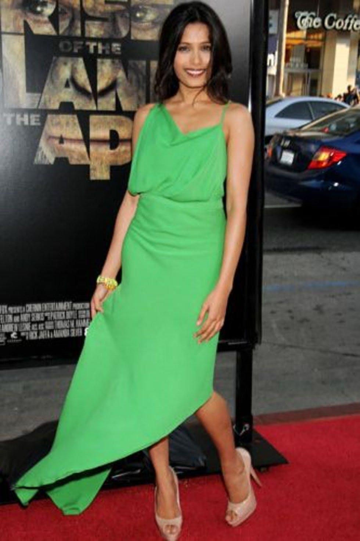 Best Dressed Of 2017 Freida Pinto Always Looks Effortless On The Red Carpet