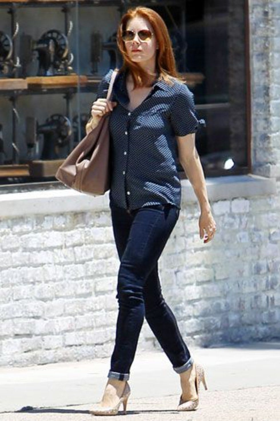 03c88153ad1 The leading lady of upcoming Superman flick Man of Steel was spotted in New  York wearing blue on blue. Denim on Denim is a huge trend this year so if  you ...