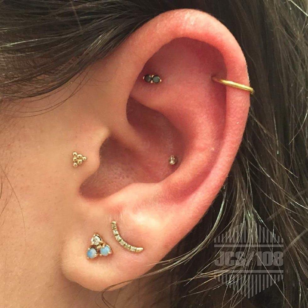 Unique and Beautiful Ear Piercing Ideas   Stylist Ear Piercings