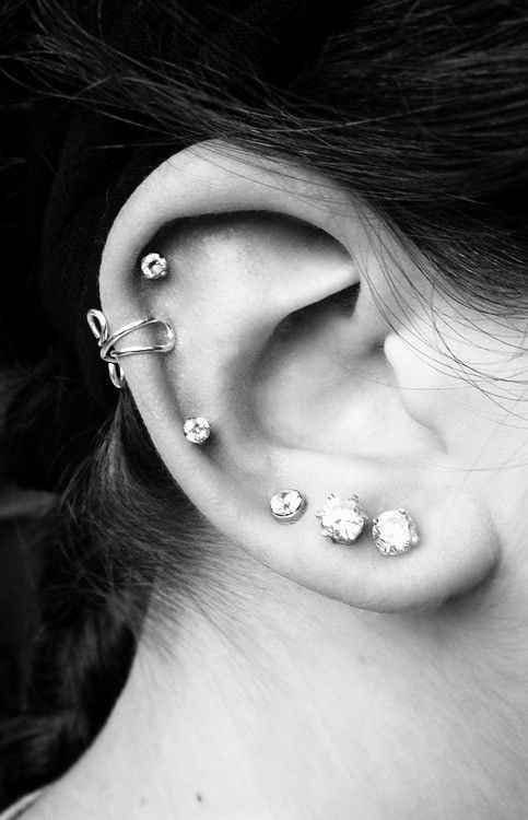 Orted Gem Studs And Twist