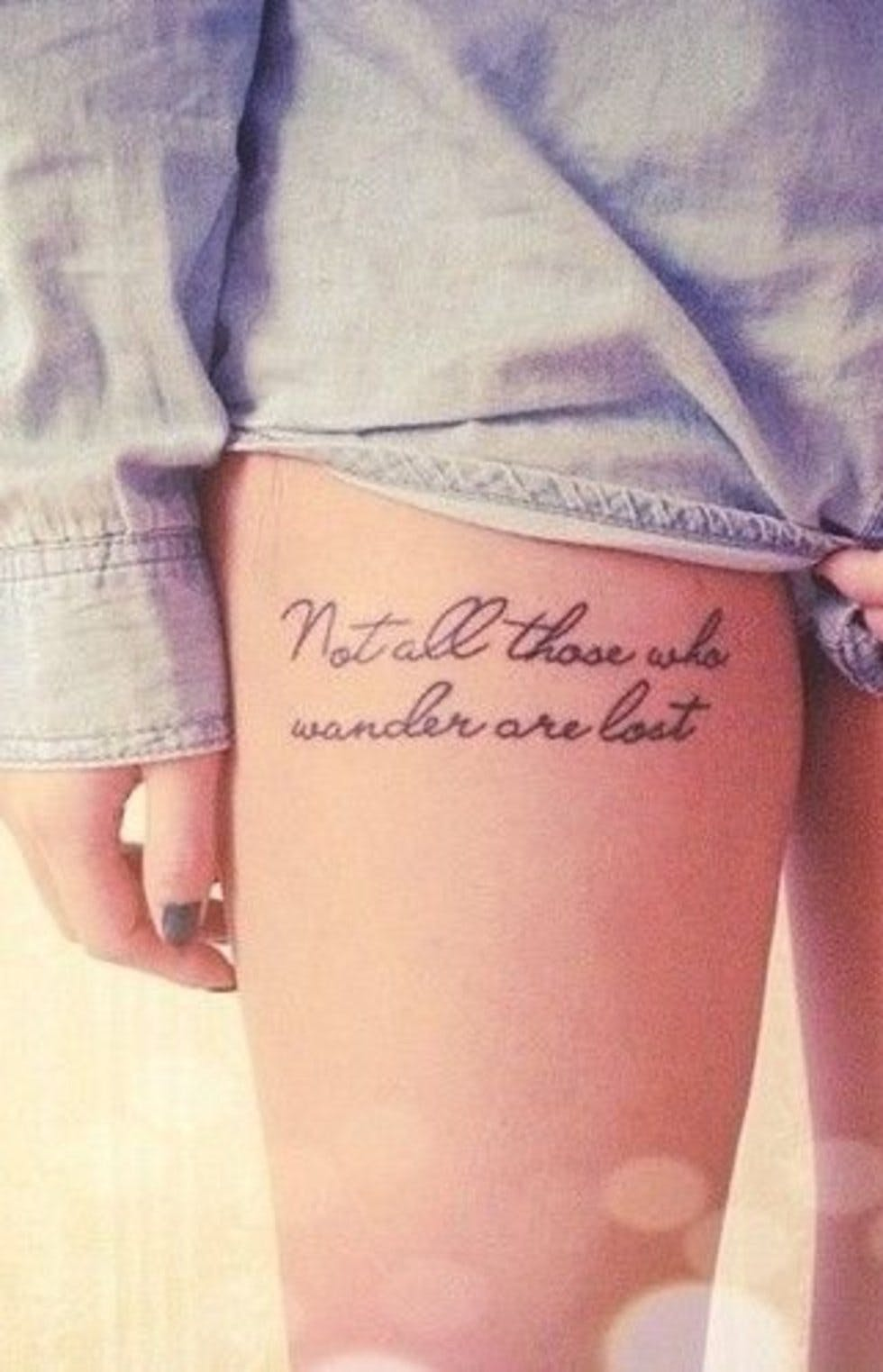 Beautiful And Subtle Literary Tattoos To Reference Your Favourite Books