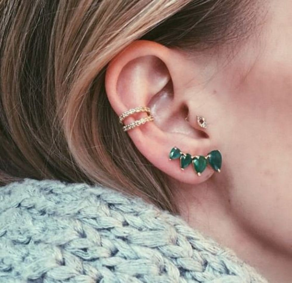 The 50 most unique multiple ear piercing ideas stylist statement studs pooptronica Choice Image