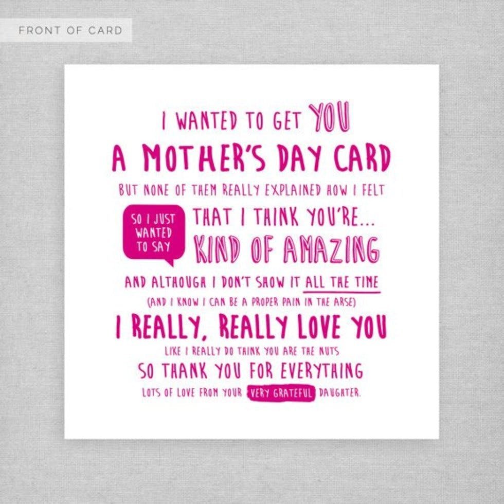 Soppy is out alternative mothers day cards for every kind of mum from someone whos lost for words kristyandbryce Choice Image