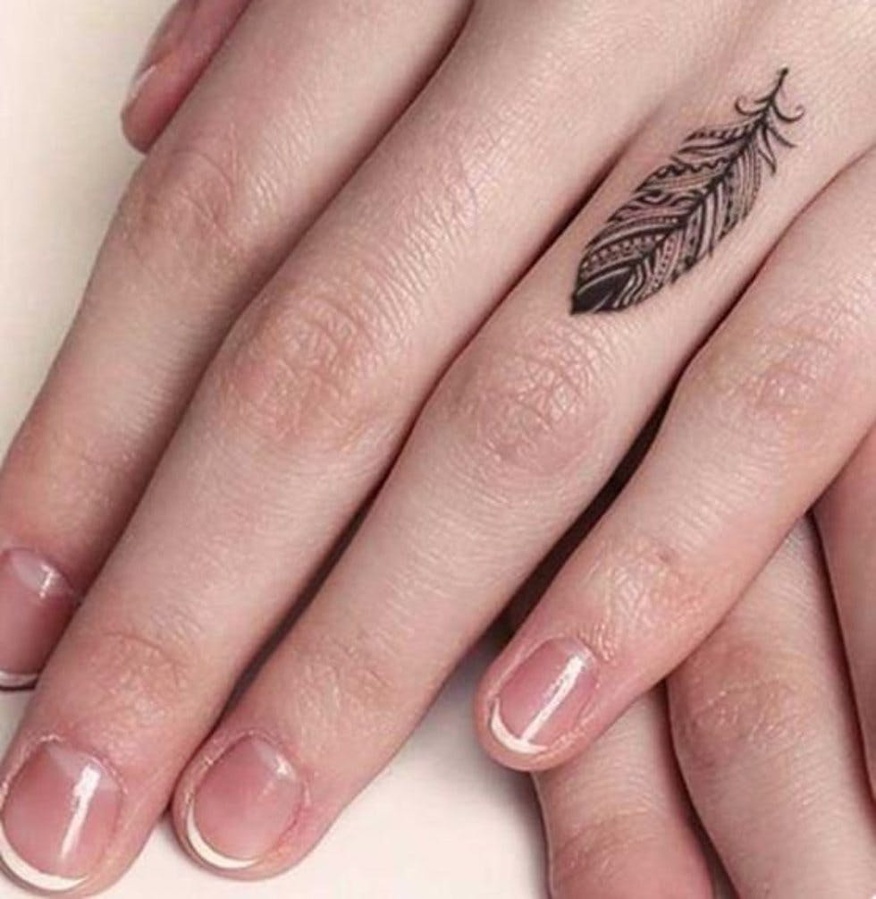 50 delicate and tiny finger tattoos to inspire your first (or next ...