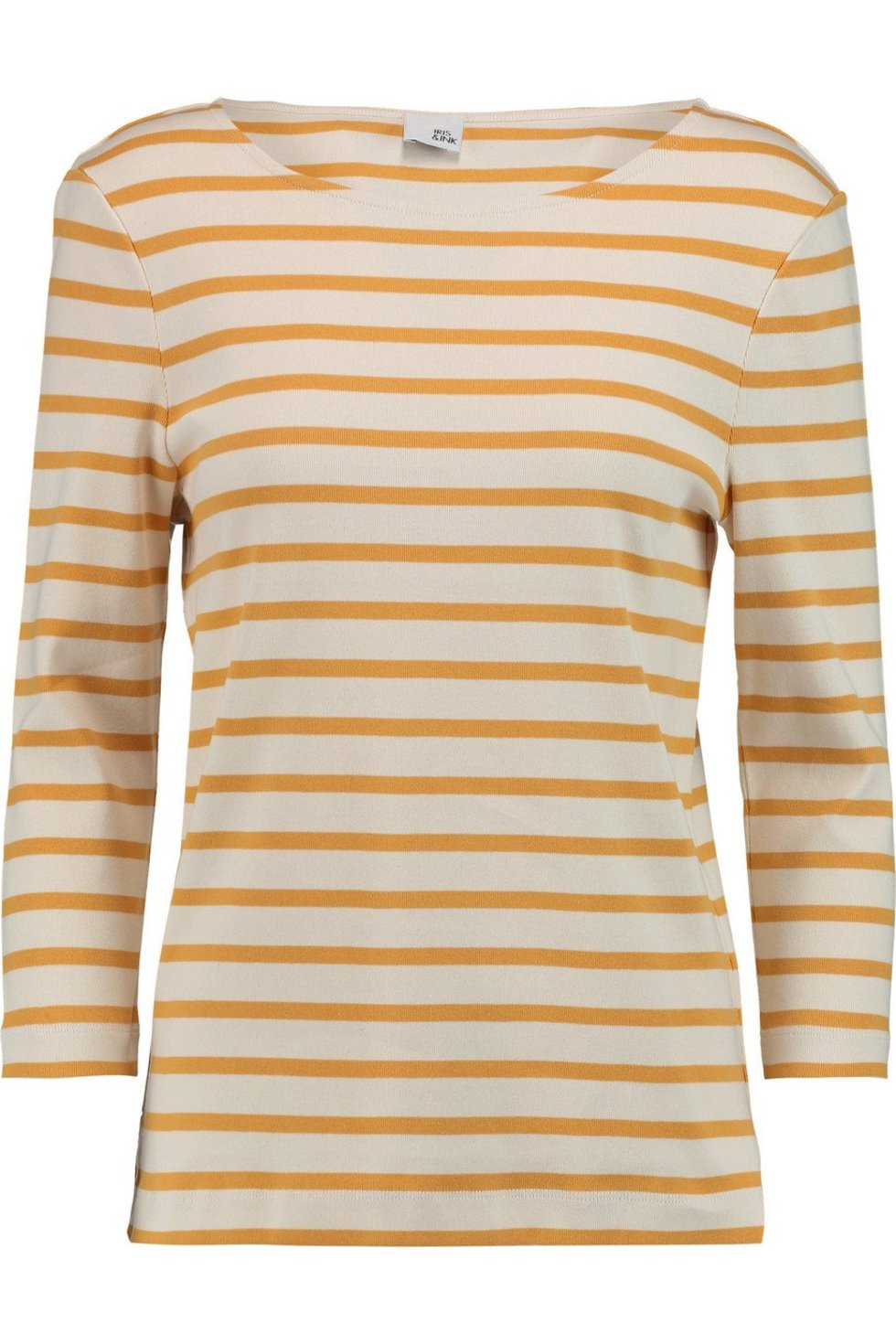 Iris and Ink Madeline breton striped stretch-cotton top