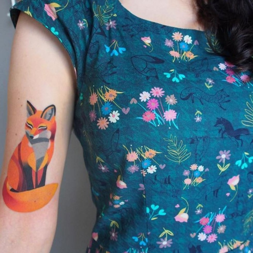 Top 50 watercolour tattoo designs stylist - Pink fox instagram ...