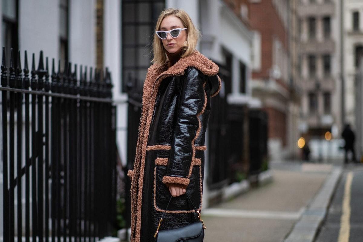 Street style wearing hooded coat