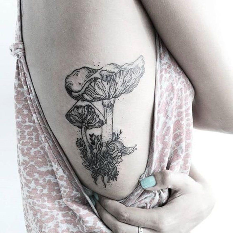 21 Mushroom Tattoo Designs Ideas: Autumnal Inspired Tattoos