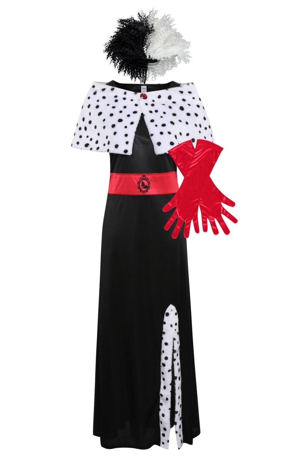 Disney Cruella De Vil Fancy Dress Costume