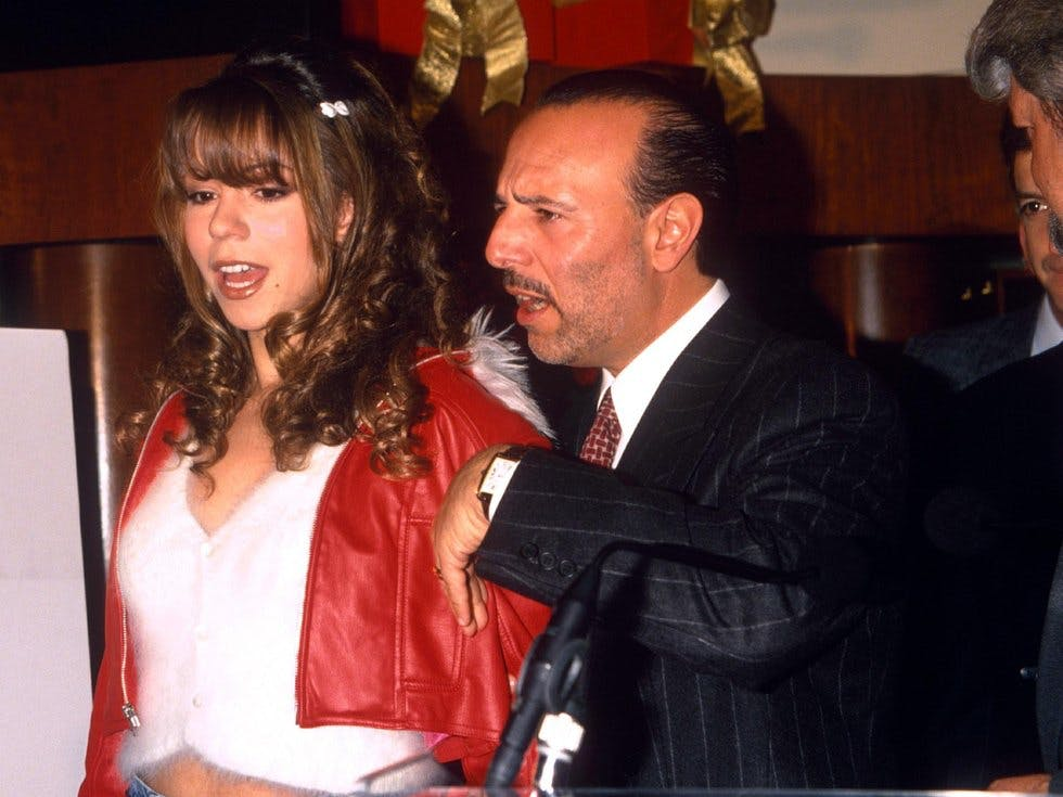 Mariah Carey And Record Label Boss Tommy Mottola