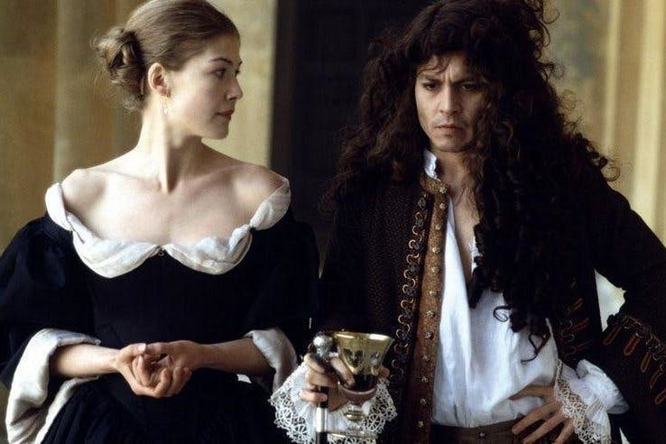 It's all about the wigs, flickering candlelight, plumed hats and unlaced  jerkins in this dimly-lit biopic of Charles II's filthy poet friend, ...
