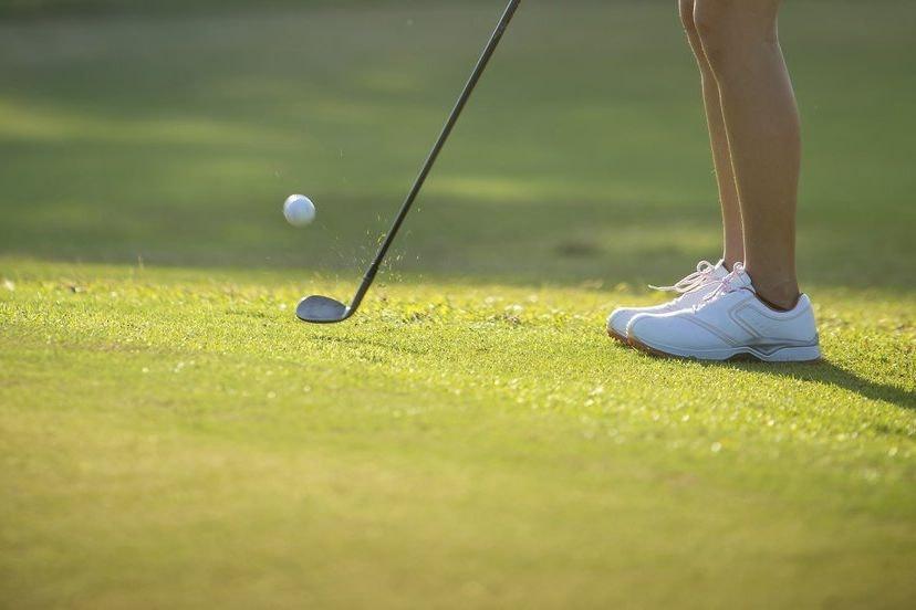 Golfers showing vagina