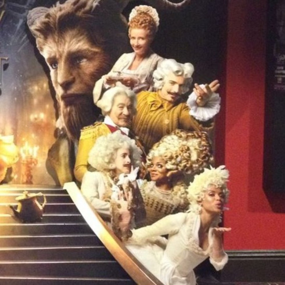 first look at beauty and the beast�s enchanted characters