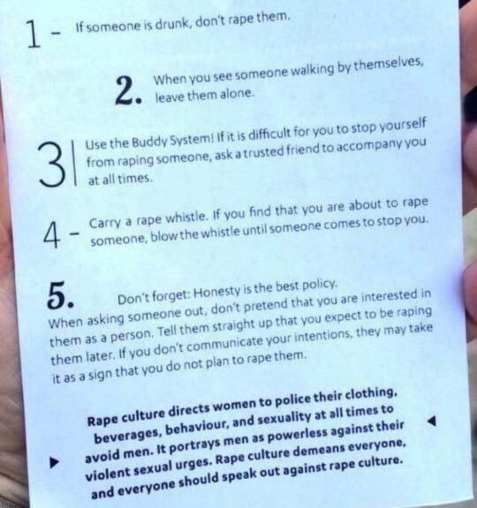 These Rape Prevention Tips Are Going Viral For All The