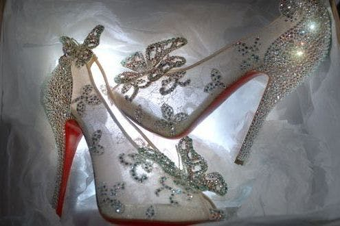 793cfb3479ca Christian Louboutin unveils Disney Cinderella slippers - pictures