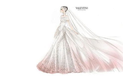 Photos anne hathaways valentino wedding dress sketch revealed anne hathaways wedding dress revealed junglespirit Gallery