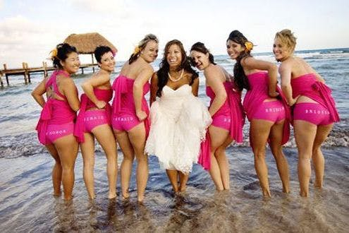 Bridesmaids Flash Their Bottoms In Latest Wedding Photography Trend