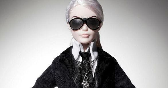 Behold the karl lagerfeld inspired barbie plus other for Trend style wedel