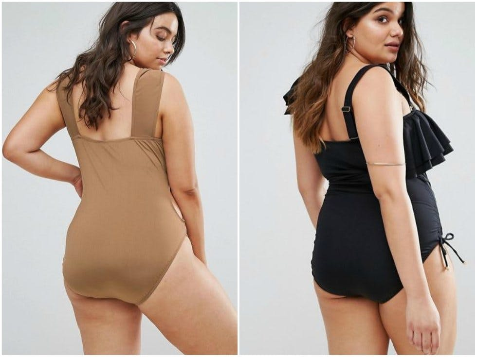 b99184a531 The plus-size models featured in the swimwear section on ASOS do not have  visible stretchmarks.