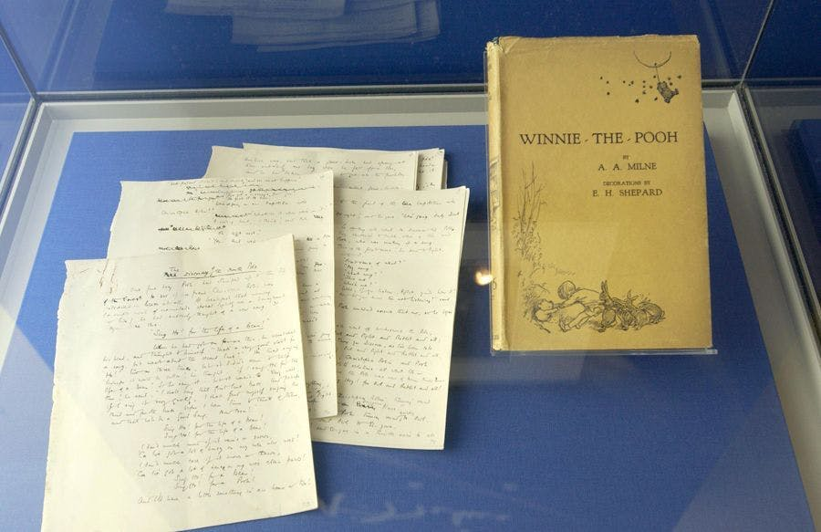 The Original Mcript And First Edition Of Winnie Pooh