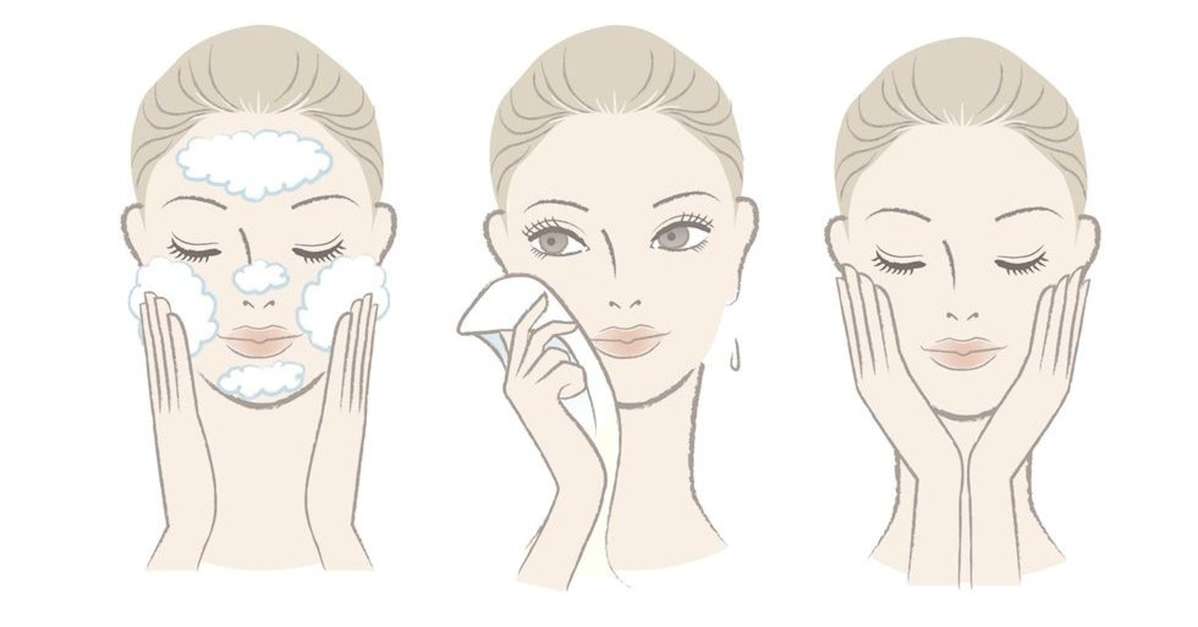 The golden rules of washing your face