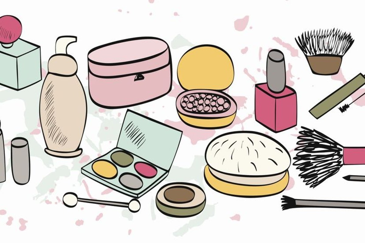 how to draw makeup products