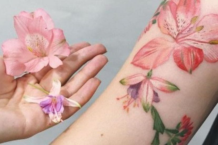 Beautiful Botanical Tattoos By Salem Witch Descendant: Artist Uses Real Plants To Create Beautiful Botanical