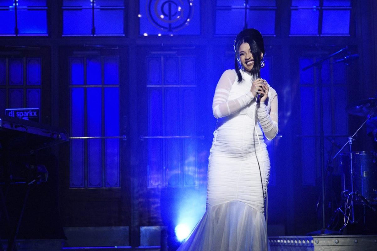 Cardi B confirms her pregnancy on SNL