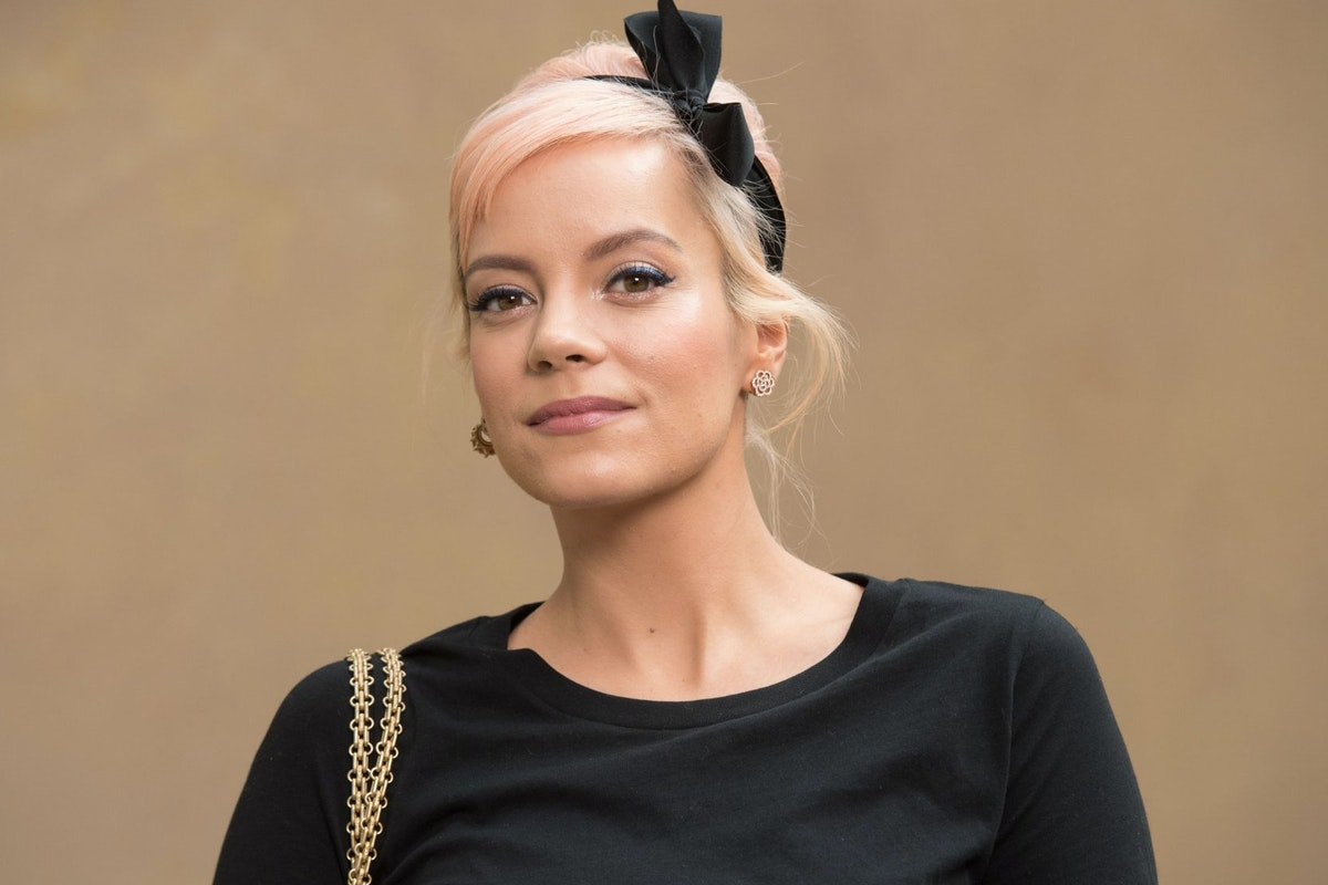 Lily Allen attends the Chanel show as part of the Paris Fashion Week Womenswear Fall/Winter 2018/2019 on March 6, 2018 in Paris, France