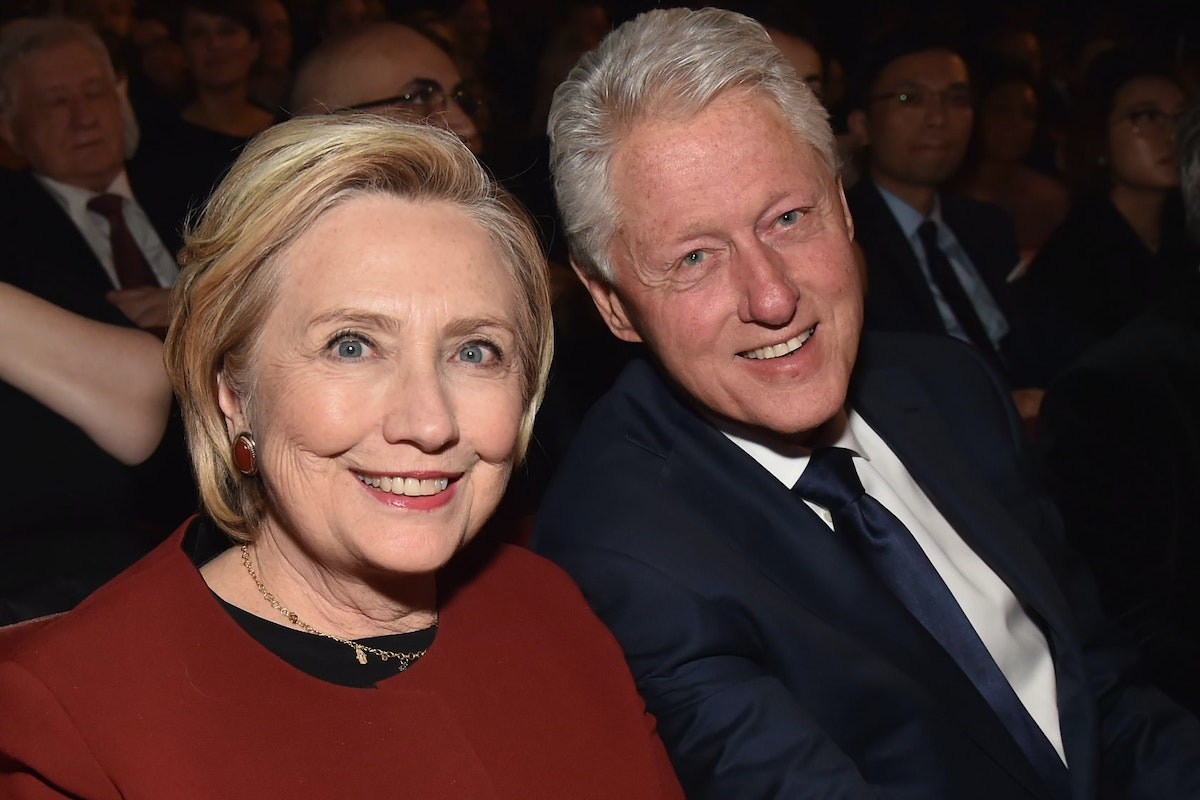 NEW YORK, NY - JANUARY 26: Former U.S. Secretary of State Hillary Clinton (L) and former U.S. President Bill Clinton attend MusiCares Person of the Year honoring Fleetwood Mac at Radio City Music Hall on January 26, 2018 in New York City. (Photo by Kevin Mazur/Getty Images for NARAS)