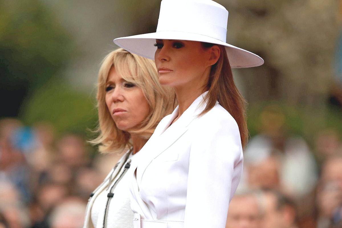 Brigitte Macron and Melania Trump at the White House