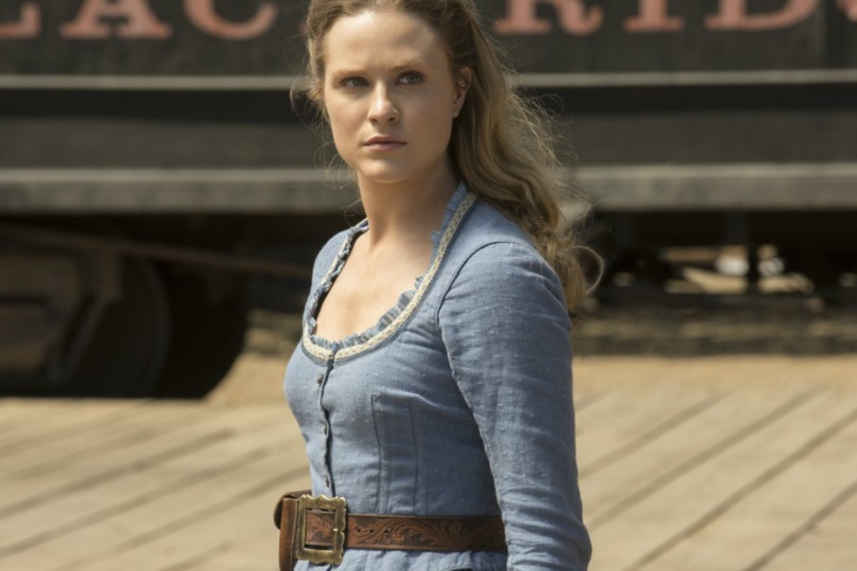 Evan Rachel Wood as Dolores in HBO's Westworld