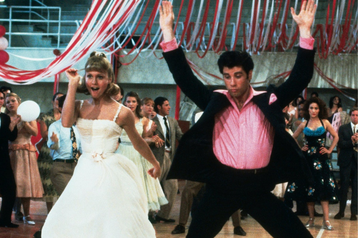 Danny Zuko and Sandy Olsson Grease movie dancing scene