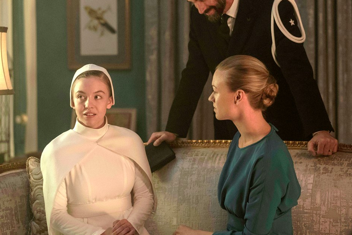 Eden and Serena sit together in The Handmaid's Tale, Seeds