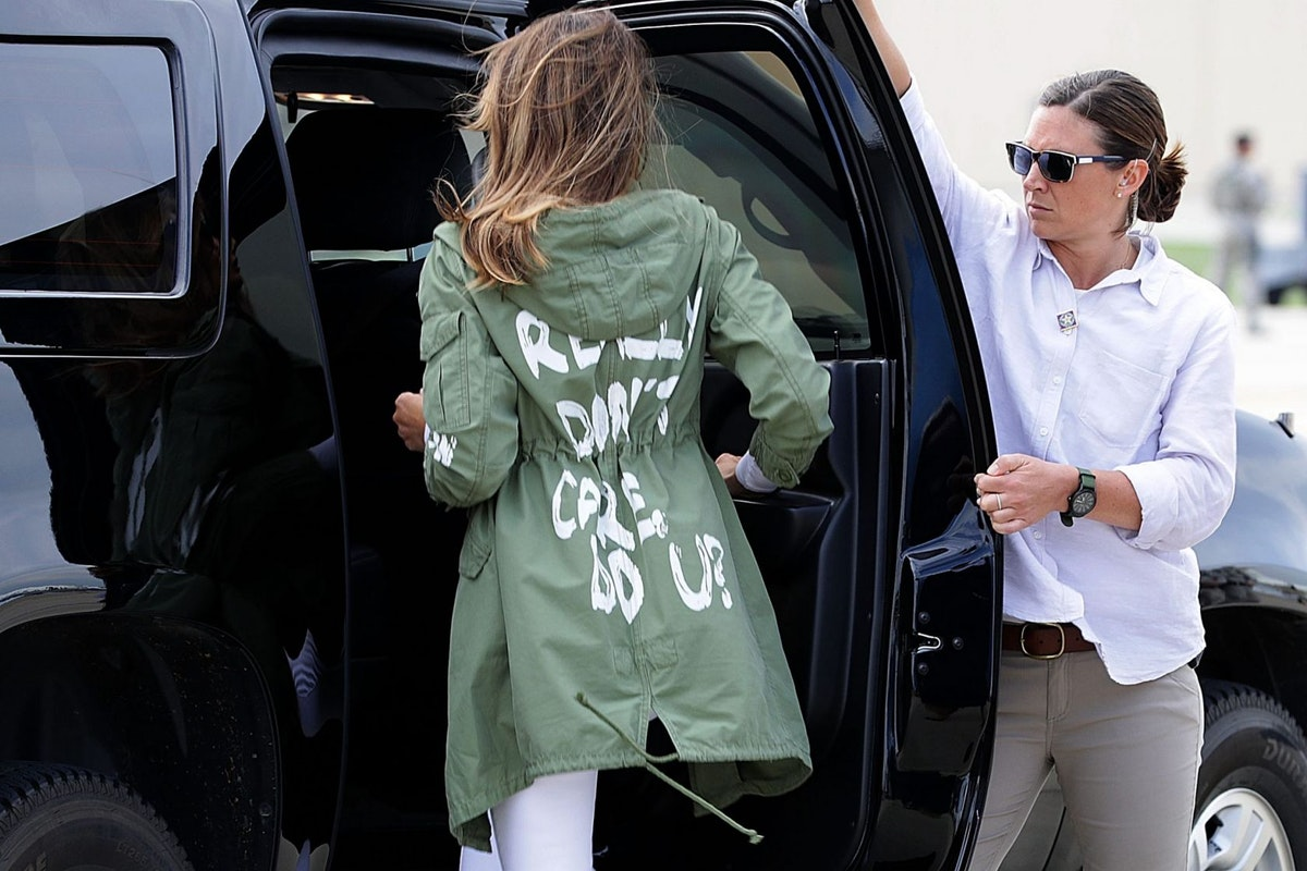 Melania Trump's I Don't Care jacket