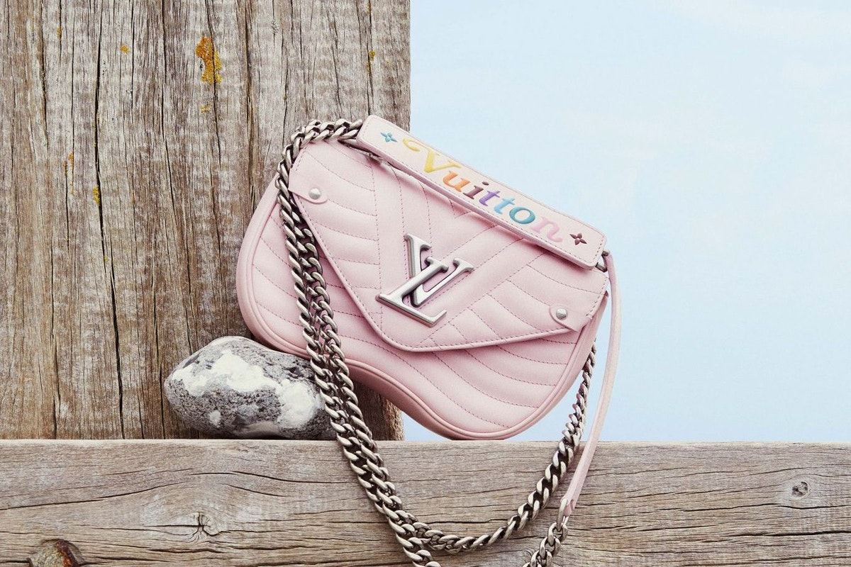 Pastel pink leather handbag accessories fashion summer style louis vuitton