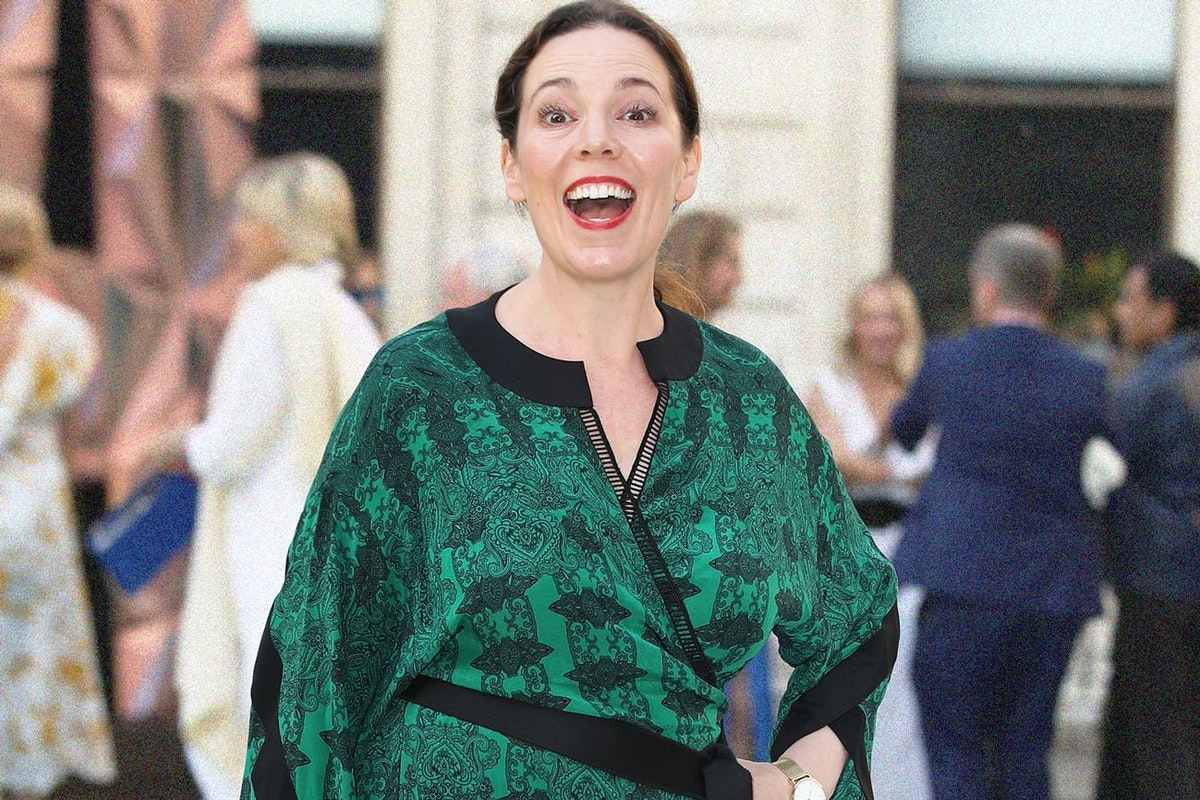 Olivia Colman smiling on the red carpet