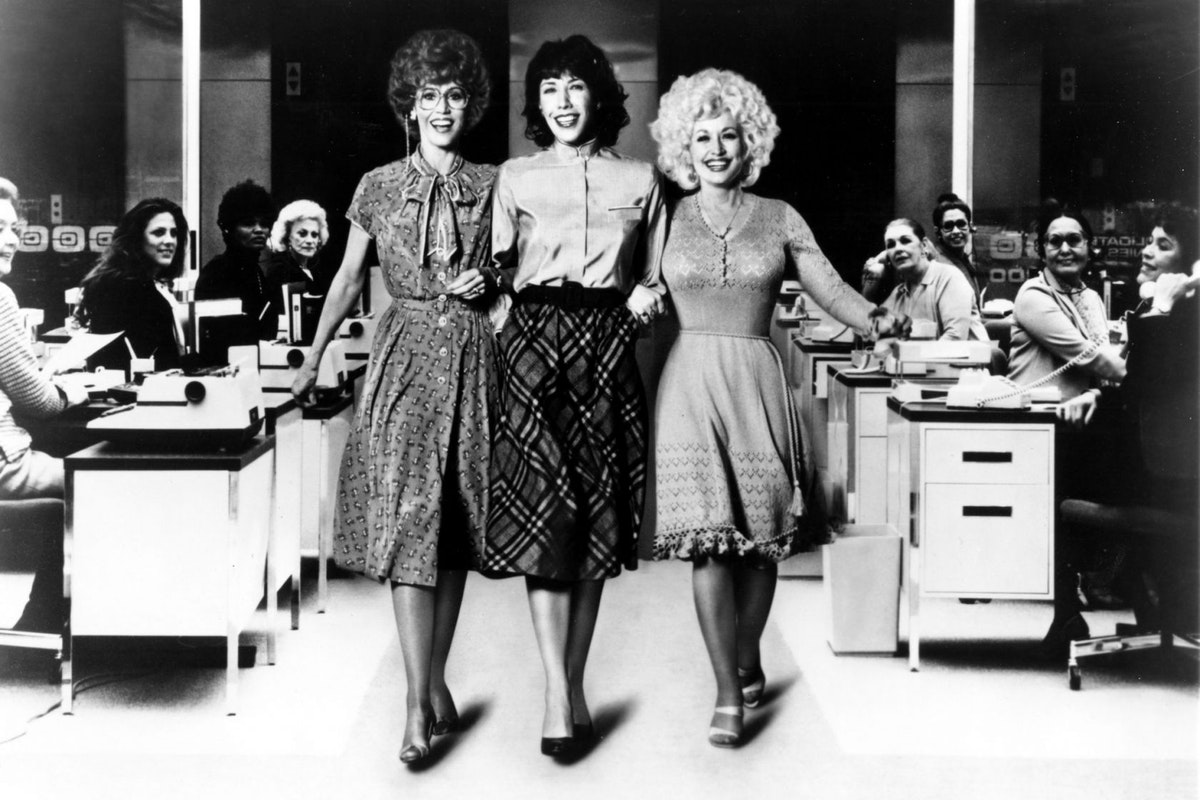 Dolly Parton, Lily Tomlin and Jane Fonda in 9 To 5
