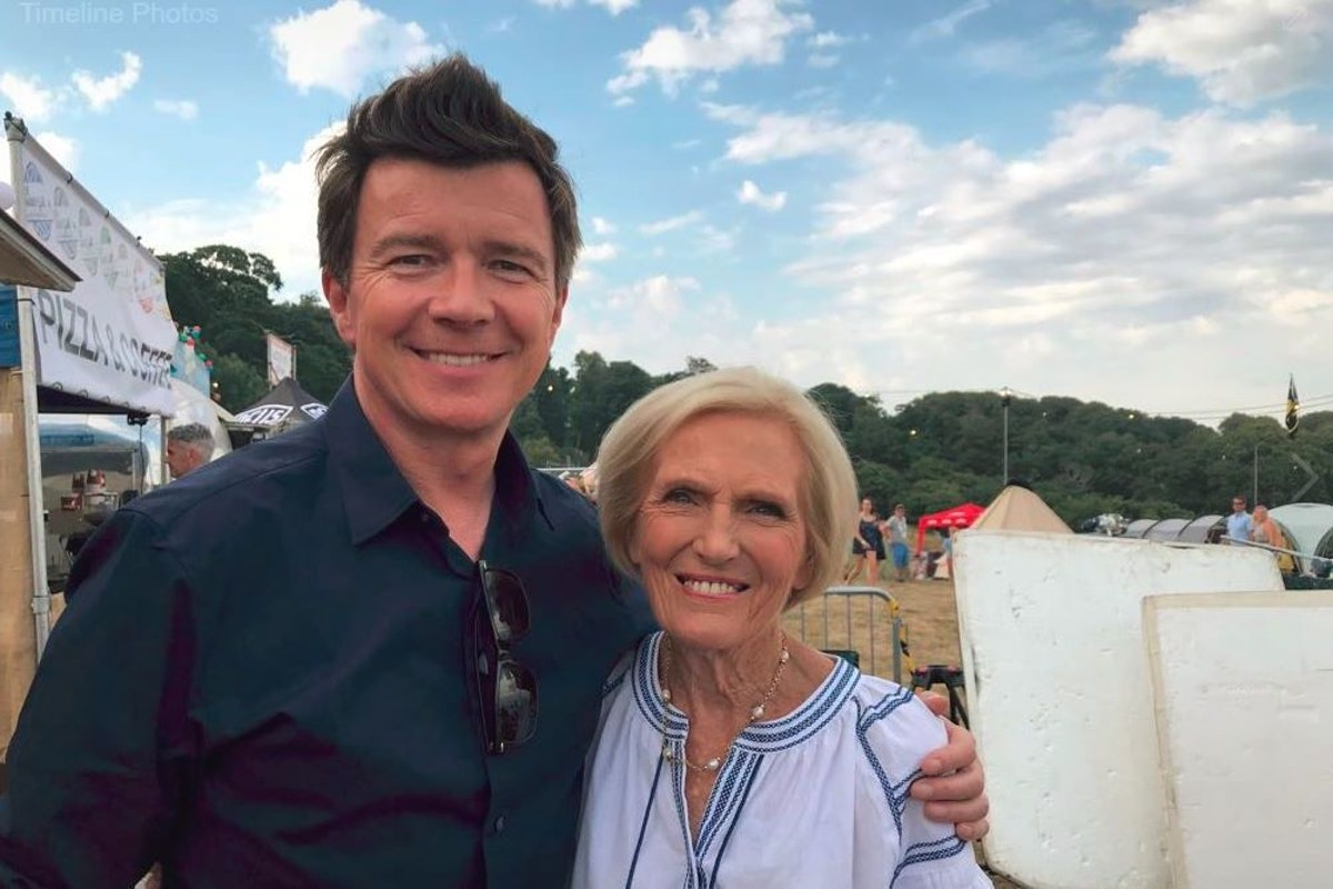 Rick Astley and Mary Berry at Bestival