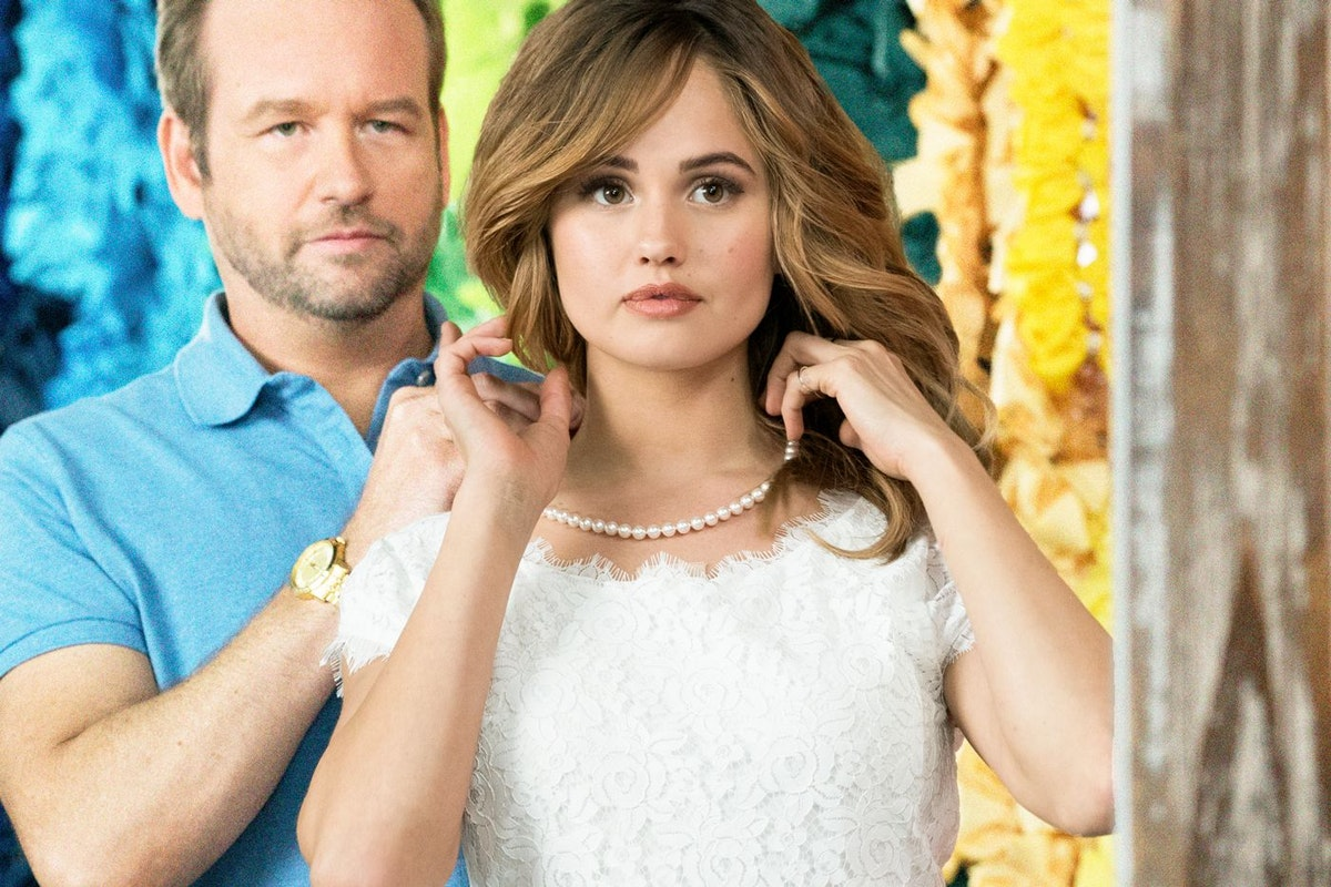 Dallas Roberts and Debby Ryan in a scene from Netflix's Insatiable
