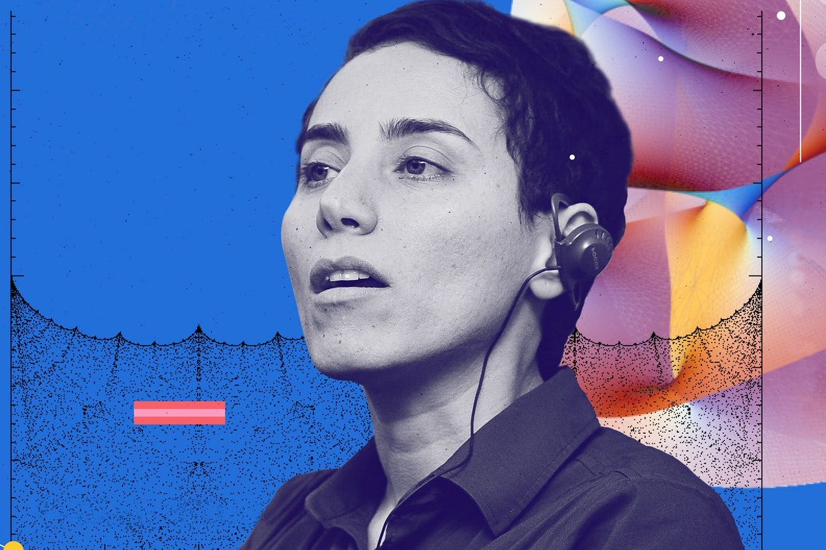 Mathematician Maryam Mirzakhani in a poster celebrating female scientists