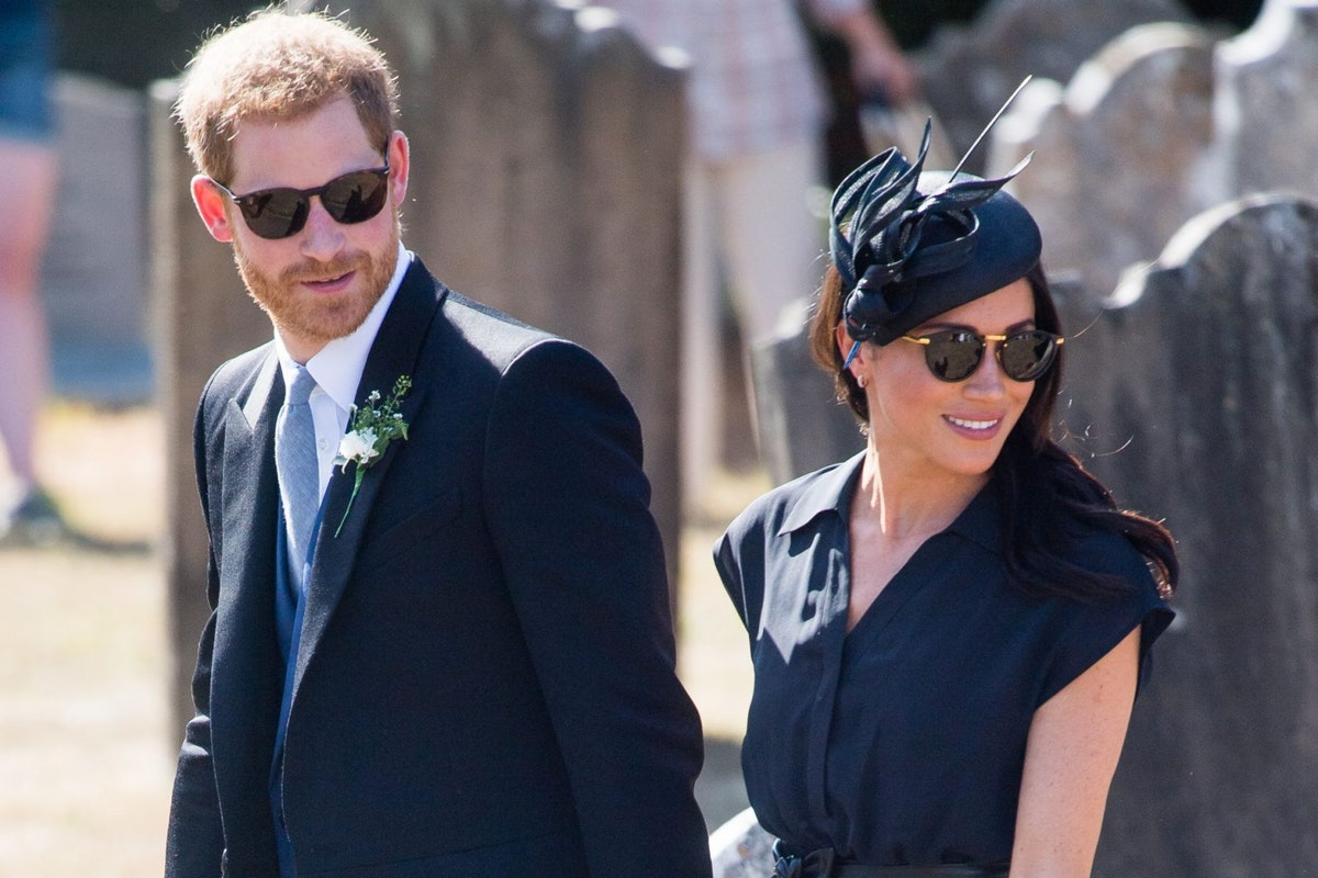 Prince Harry and Meghan markle attend Charlie van Straubenzee's wedding