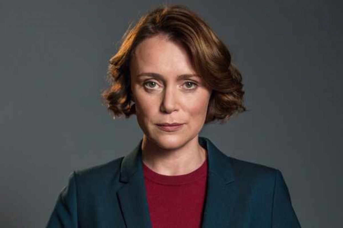 Keeley Hawes as Home Secretary Julia Montague in Bodyguard