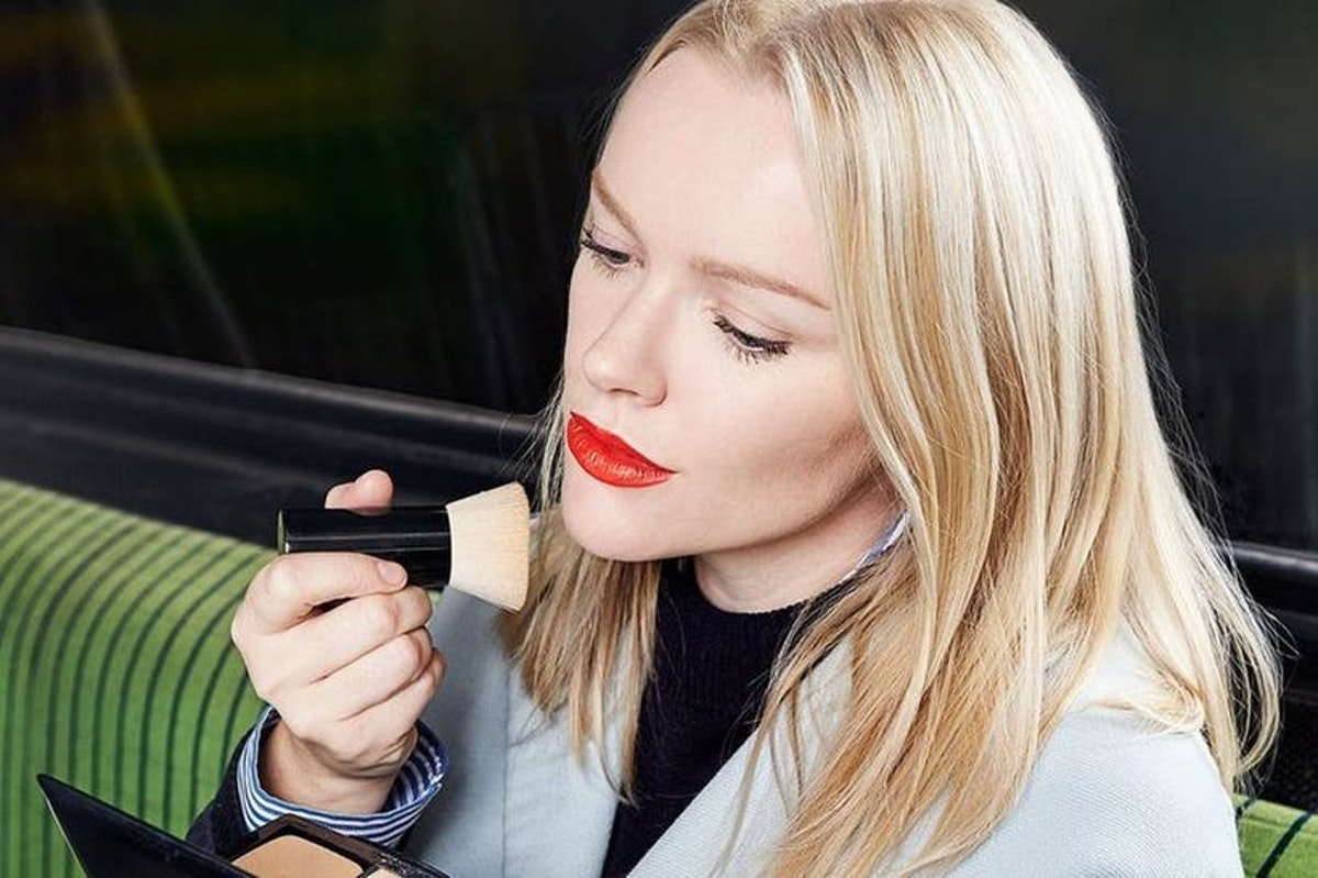 """I really don't care if people think applying make-up in ..."
