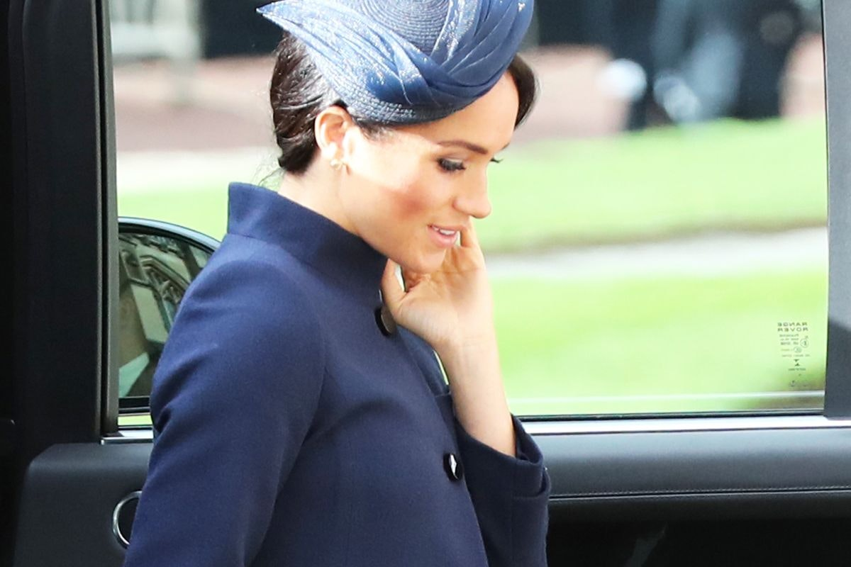 Meghan Markle arrived at Princess Eugenie's October 12 wedding