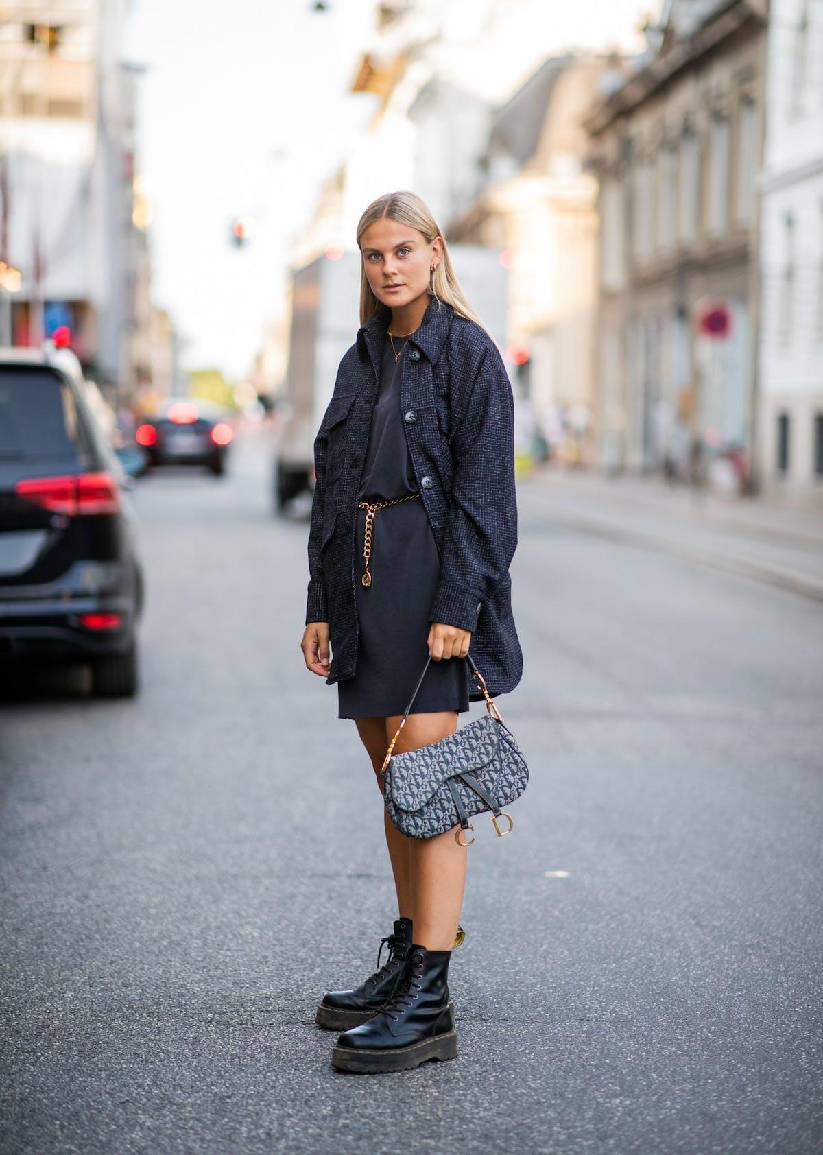 Fashion blogger Alessa Winter wearing Dr. Martens boots at Copenhagen  Fashion Week d97a2e9aaaad