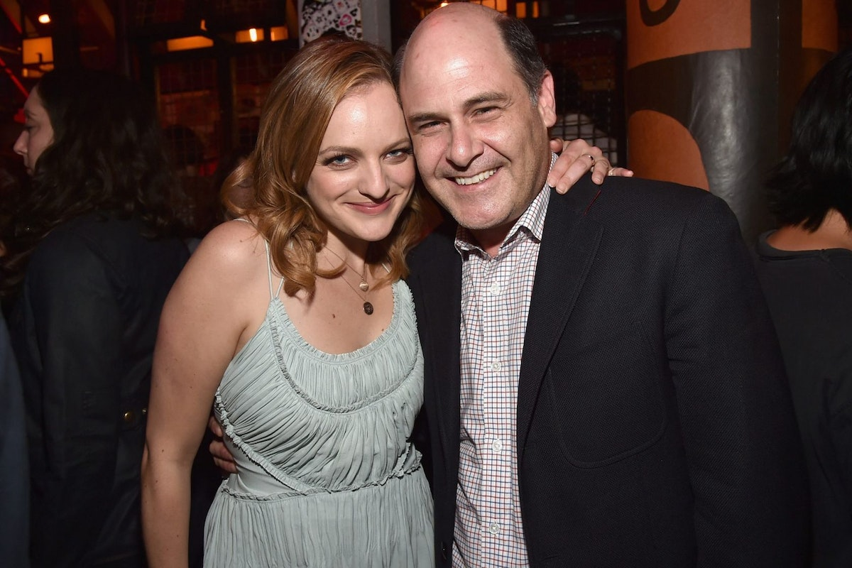 LOS ANGELES, CA - AUGUST 07: Actress Elisabeth Moss and producer Matt Weiner attend the after party for the premiere of RADIUS-TWC's 'The One I Love' at Umami Burger on August 7, 2014 in Los Angeles, California. (Photo by Alberto E. Rodriguez/Getty Images)