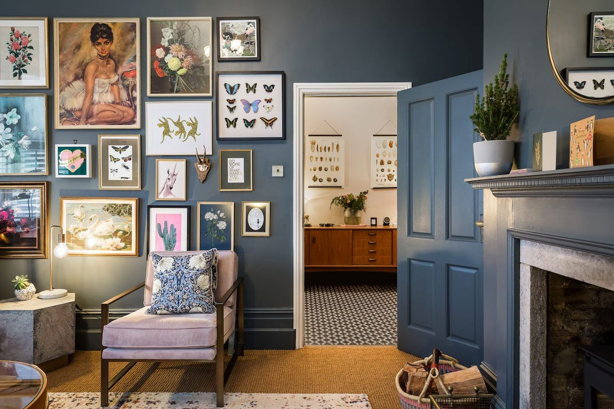 Clemmie's gallery wall in her home office