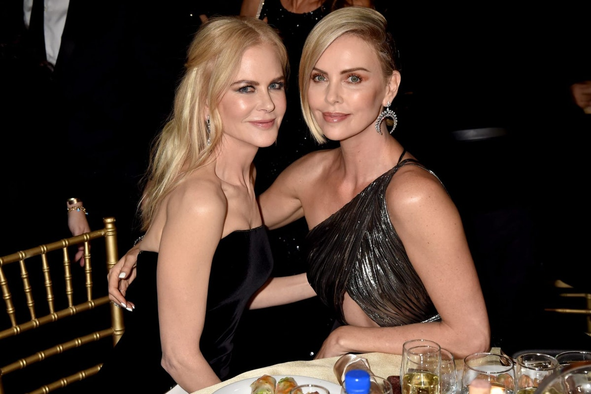 Nicole Kidman and Charlize Theron at the 2019 Critics Choice Awards
